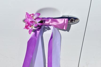 Банты на ручки машин на свадьбу своими руками 22